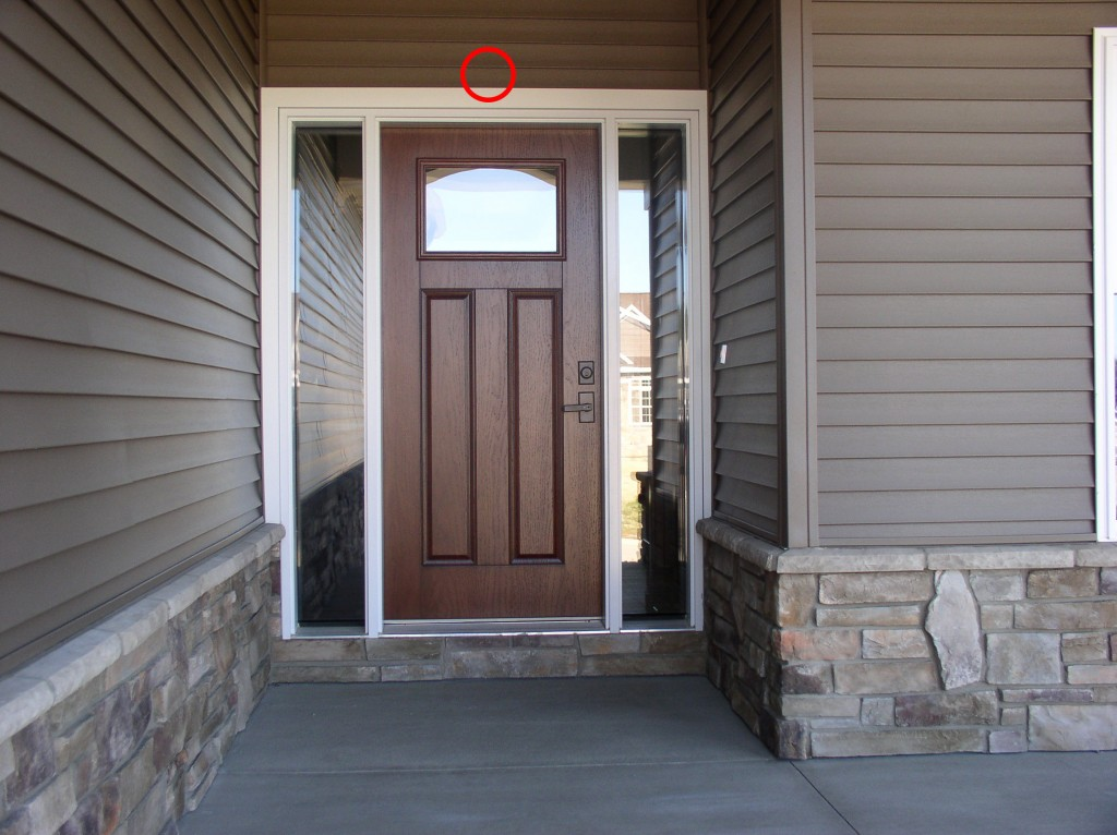 Where to place security cameras cammy for Front entrance doors